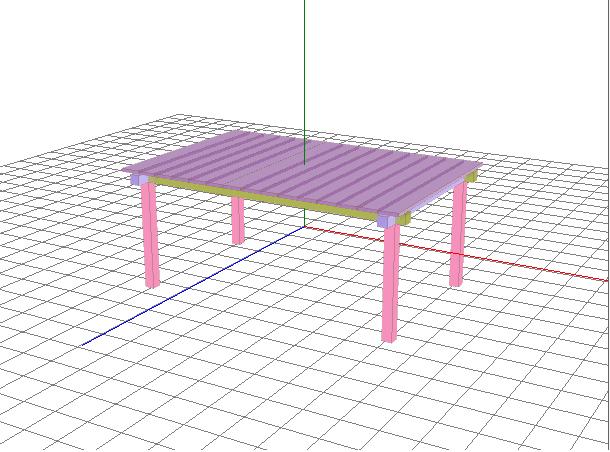 ロールトップテーブル完成予定図